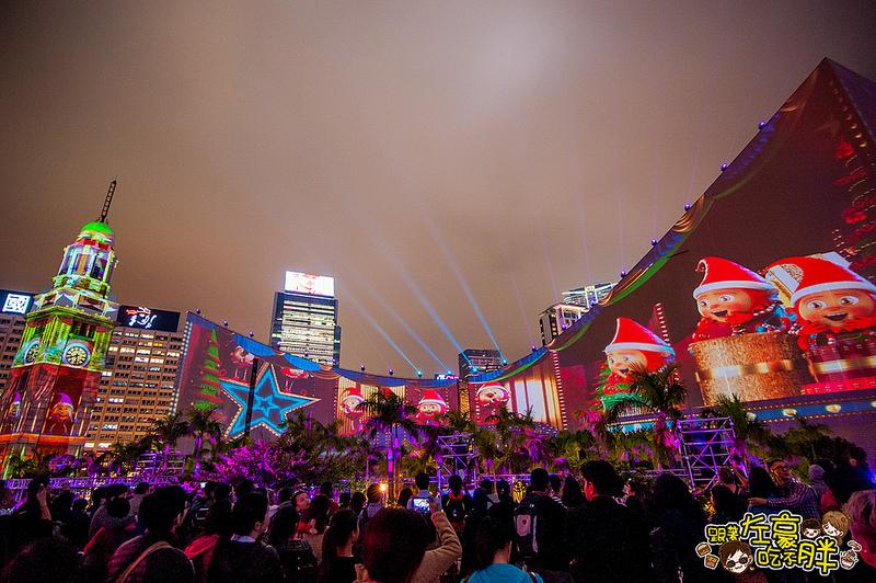[旅遊] 香港自由行。香港繽紛冬日耶誕節「閃躍維港3D光雕匯演」濃情耶誕味~(內有影片)