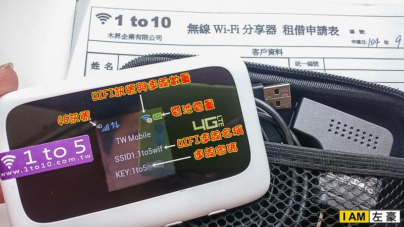 [國內外旅遊] 台灣wifi機「1to10/1to5 WIFI分享器」4G網路吃到飽省錢省事好租用 *註明左豪有折價*