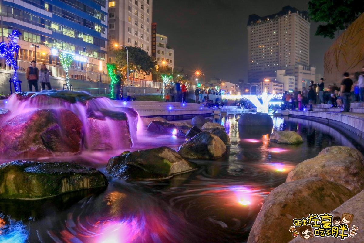 [台中旅遊] 夢幻上萬燈海免費參觀!超人氣景點「柳川藍帶水岸」神似韓國清溪川~