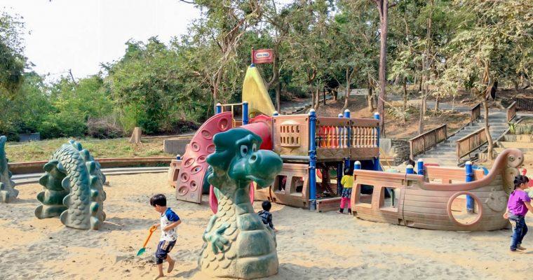 高雄旅遊「澄清湖兒童樂園」海盜船沙坑,免費親子景點