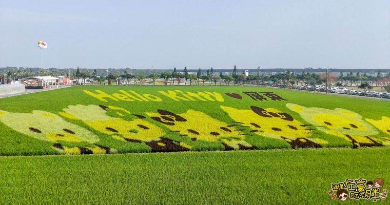 屏東熱帶農業博覽會Hello Kitty彩繪稻田登場,最新消息搶先看!