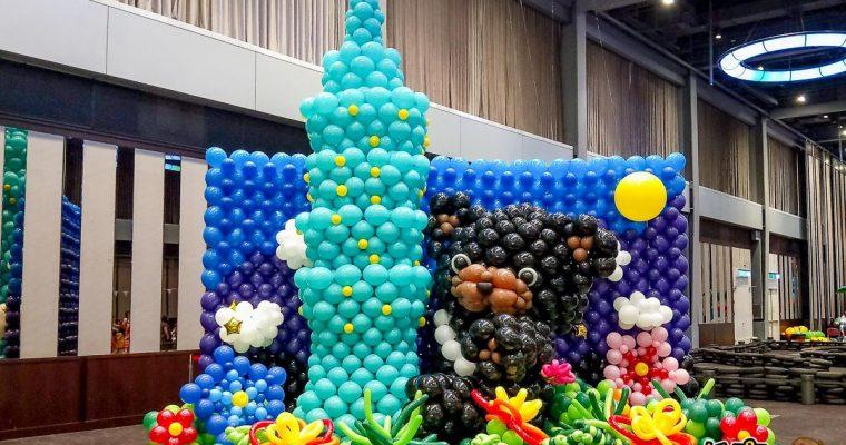 環遊世界村創意氣球展!新光三越高雄左營店(免費參觀) 氣墊遊樂x國際兒童超跑x電力飄飄車