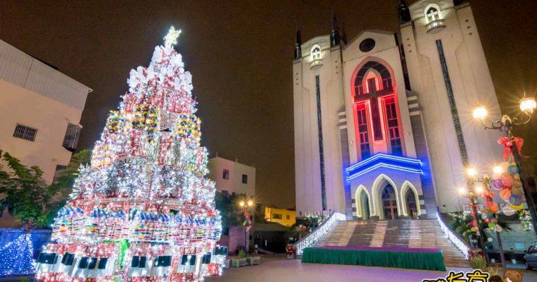鳳山教會聖誕節 白色閃亮聖誕樹X麋鹿雪橇X天使翅膀 耶誕拍照景點!