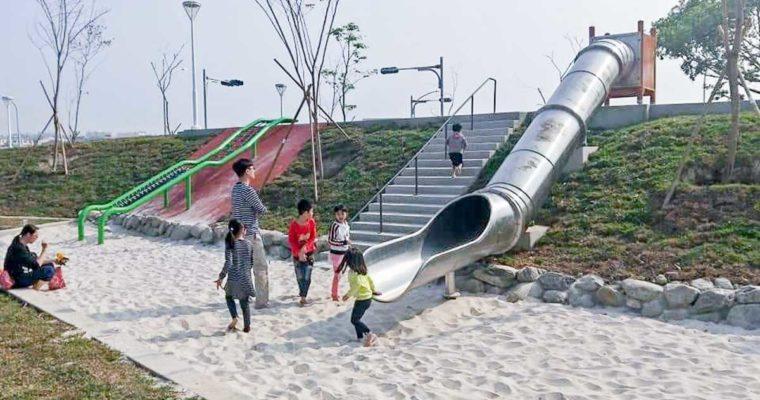 高雄景點 小港森林公園 免費玩沙、溜滑梯、看飛機,親子景點推薦