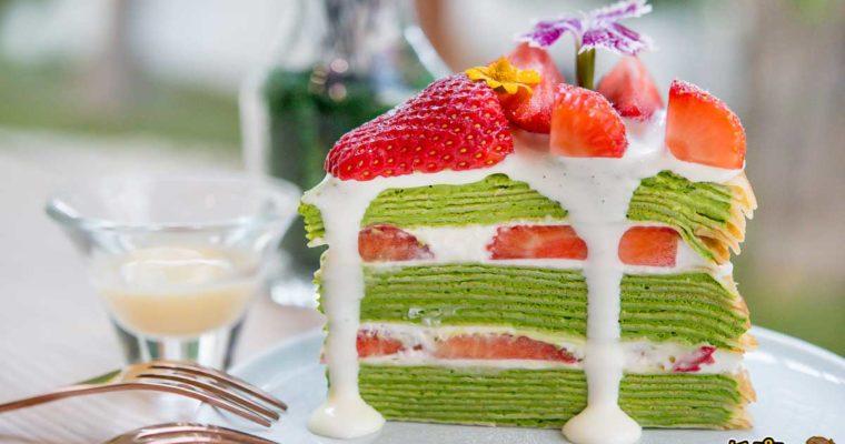 高雄美食 超撩妹抹茶草莓蛋糕,先生手作千層~少女心爆發蛋糕天堂