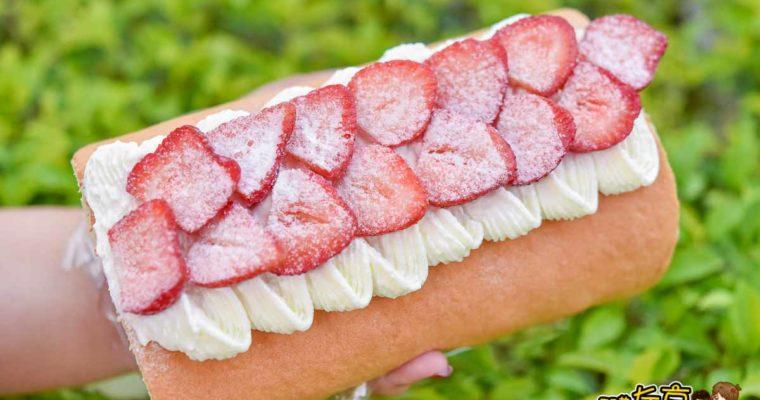 神祕美食小恩家手作,草莓生乳捲~草莓控跟上!秒殺完售麵包店(1天營業2小時)
